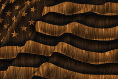 American flag wooden background Royalty Free Stock Images