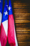 American flag on wooden table Royalty Free Stock Photography