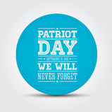 American flag words patriot day september 11, 2001. Vector Royalty Free Stock Images