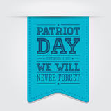 American flag words patriot day september 11, 2001. Vector Royalty Free Stock Photography