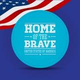 American flag words patriot day september 11, 2001. Vector Stock Illustration
