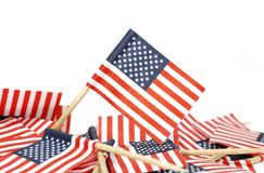 American Flags Stock Photography