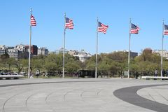 American flags. At the Washington monument Royalty Free Stock Photos