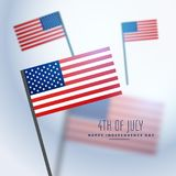 American flags background. Vector design Royalty Free Stock Photo