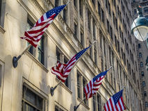 American flags at building in the center of New York City Royalty Free Stock Photo