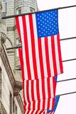 American Flags on the building, Washington DC royalty free stock image