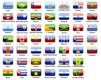American flags of countries Royalty Free Stock Photography