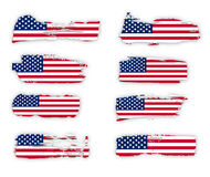 American Flags design collection Royalty Free Stock Photos