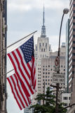 American Flags Empire State Building stock images