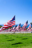 American flags on a field Royalty Free Stock Images