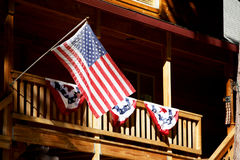 American Flags Flying Royalty Free Stock Image