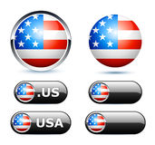 American flags icon Stock Photography