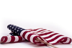 American Flags Isolated Royalty Free Stock Photography