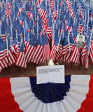 343 American Flags in the memory of FDNY firefighters who lost their life on September 11, 2001 Stock Photo