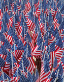 343 American Flags in the memory of FDNY firefighters who lost their life on September 11, 2001 Stock Images