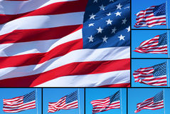 American flags montage Royalty Free Stock Photos