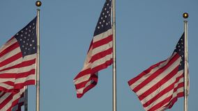 American Flags, United States, 4th of July stock footage