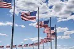 American Flags In Washington DC stock photos
