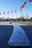 American flags at Washington Monument Royalty Free Stock Photos