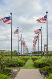 American Flags Waving Royalty Free Stock Photography
