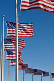 American Flags Stock Photos