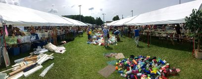 American Flee Market with Tents stock photography