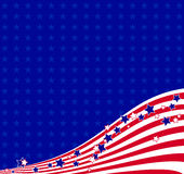 American flowing background Royalty Free Stock Images