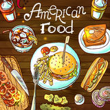 American food Stock Photo