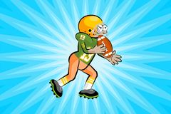 American Footbal Player Royalty Free Stock Photography