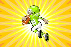 American Footbal Player Stock Photography