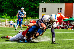 American footbal players. In action Stock Photography