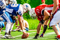 American footbal players. In action Royalty Free Stock Photography