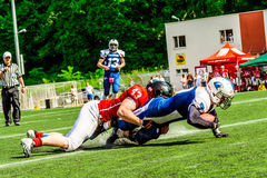 American footbal players. In action Royalty Free Stock Images