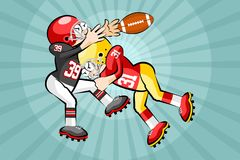 American Footbal Players Royalty Free Stock Photos
