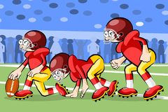 American Footbal Players Royalty Free Stock Images