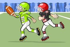 American Footbal Players Royalty Free Stock Photography