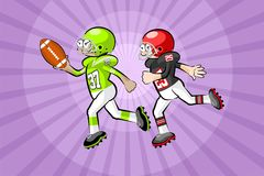 American Footbal Players Royalty Free Stock Photo