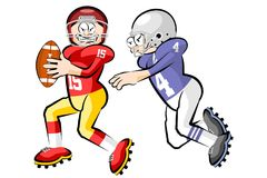 American Footbal Players Stock Photo
