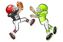 American Footbal Players Royalty Free Stock Image