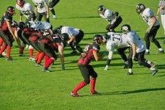 American Football. In Germany Siegen Sentinels vs. Oberberg Bandits Stock Image