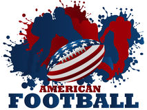 American football. Background, usa number one sport royalty free illustration