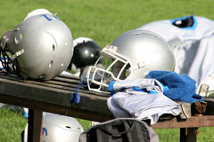 American football. Details American football, during training Stock Photography
