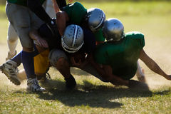 American football. Football players are is serious action Stock Image