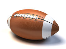 American football. 3d American football on white background Stock Images