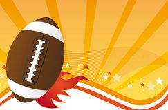American football. Over orange background. vector illustration Stock Photo