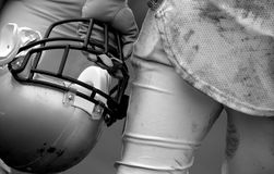 American Football. Player is waiting to get back and join the game Stock Photography