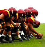 American Football. The front line in football, Isolated Royalty Free Stock Photography