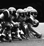 American Football. The Front Line in football Royalty Free Stock Photos