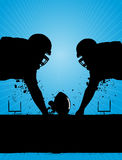 American Football. Abstract blue background Stock Image