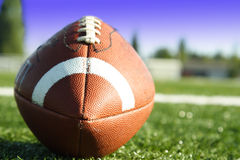 American football. A shot of an american football on a football field Stock Photography